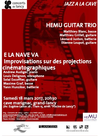 Les Concerts de Lancy : HEMU Guitar Trio [CONCERT ANNULÉ]