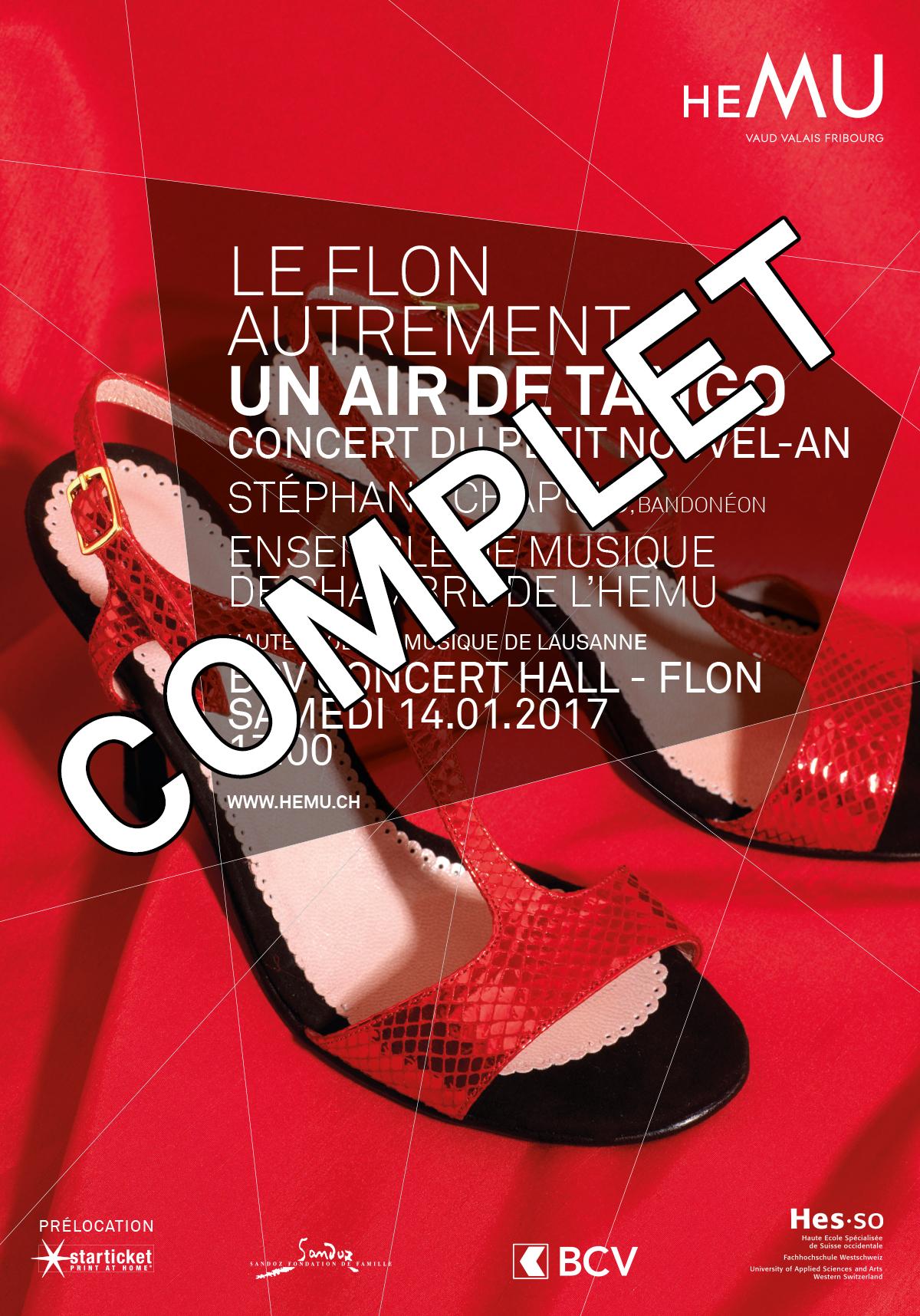 Le Flon autrement : Un air de tango, Concert du Petit Nouvel-An