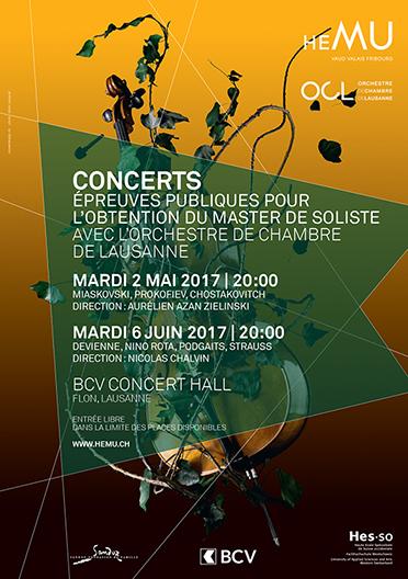 Concert des candidats à l'obtention du Master de Soliste - Concert 1