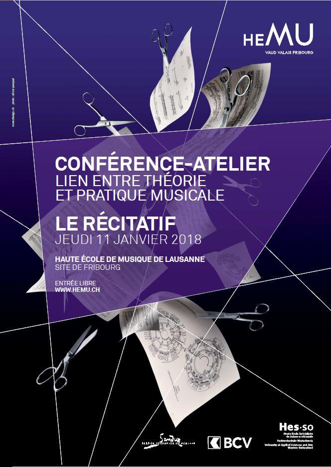 CONFÉRENCE-ATELIER - LIEN ENTRE THÉORIE ET PRATIQUE MUSICALE: LE RÉCITATIF