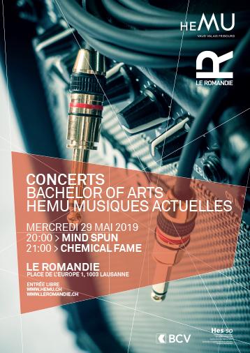 Concerts  Musiques Actuelles - Bachelors