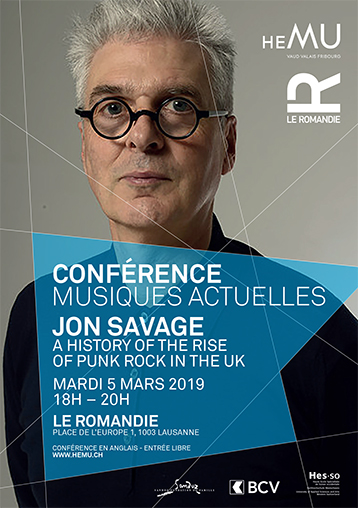 Conférence : Jon Savage -  A History of the Rise of Punk Rock in the UK