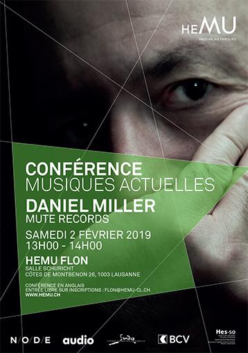 Conférence musiques actuelles : Daniel Miller - Mute Records