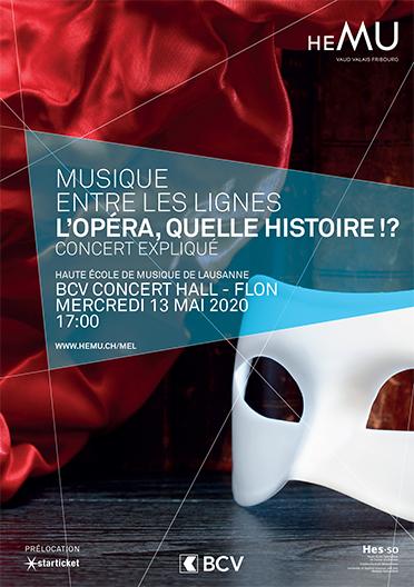 CONCERT ANNULE - L'opéra, quelle histoire!?