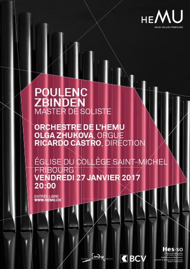 Master de soliste Fribourg : Poulenc, Zbinden
