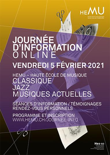 JOURNÉE D'INFORMATION ONLINE 2021